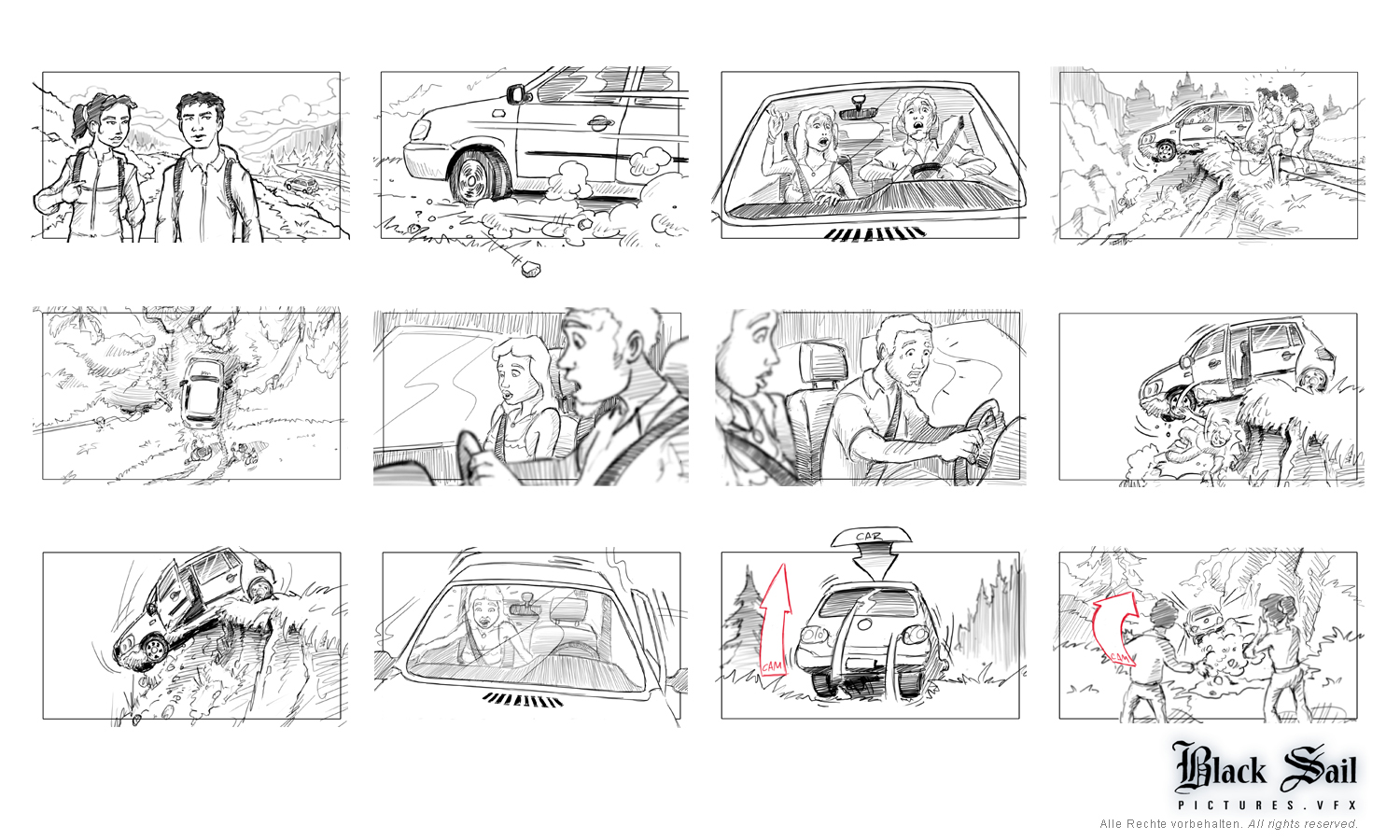 live action storyboard Productionboard Fernsehserie