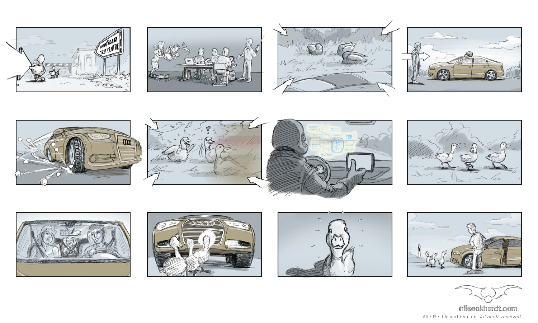Storyboard München: Keyvisuals Viralspot