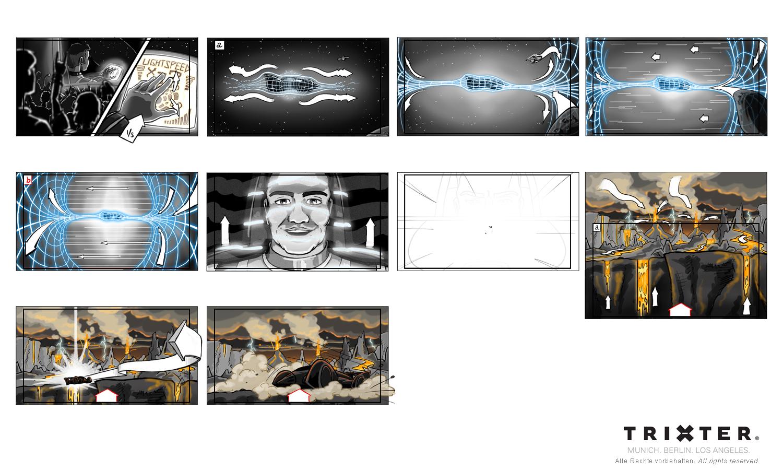 Storyboard München Trixter ProSieben Opener - Aiman Abdallah