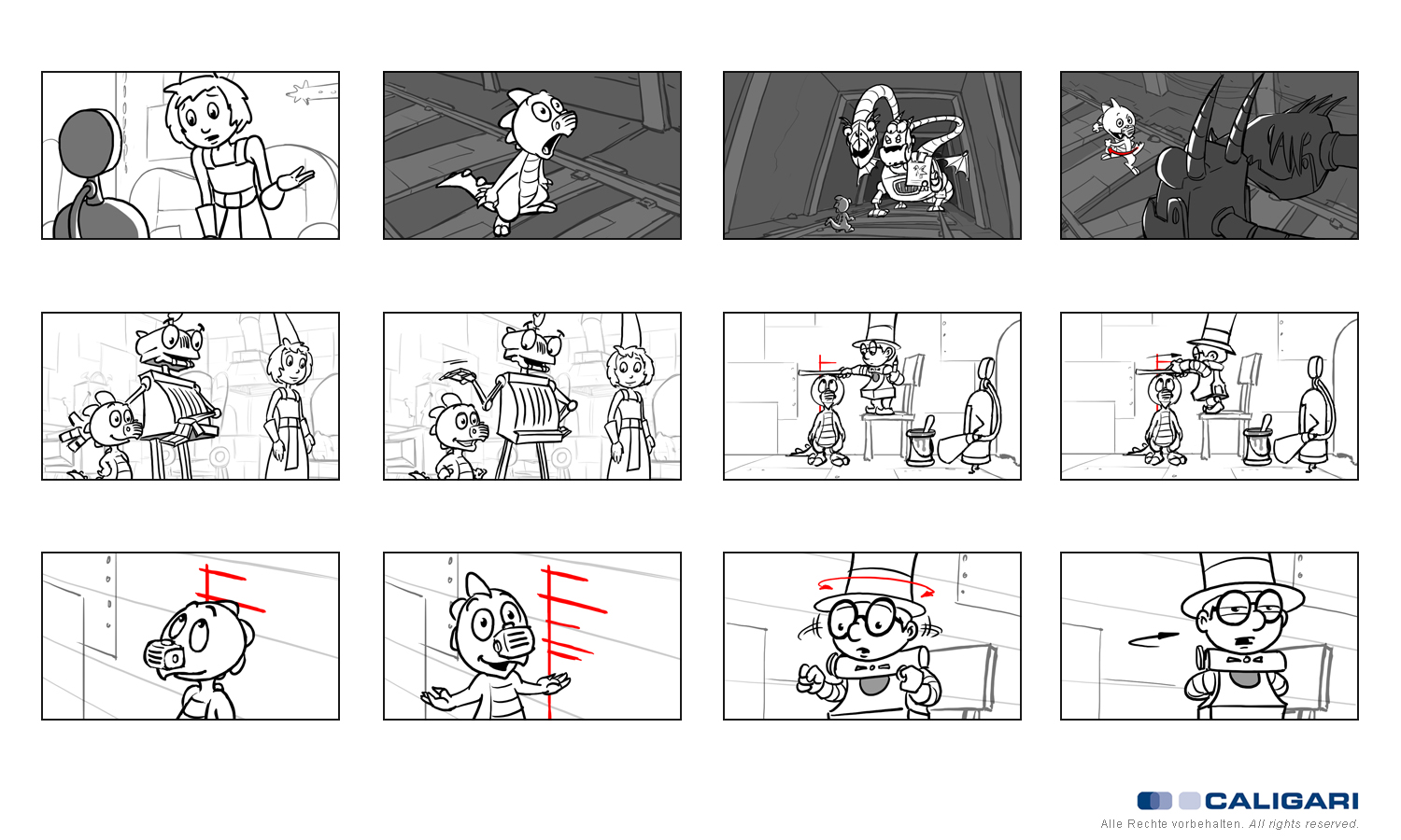 Animationboards Ritter Rost Serie