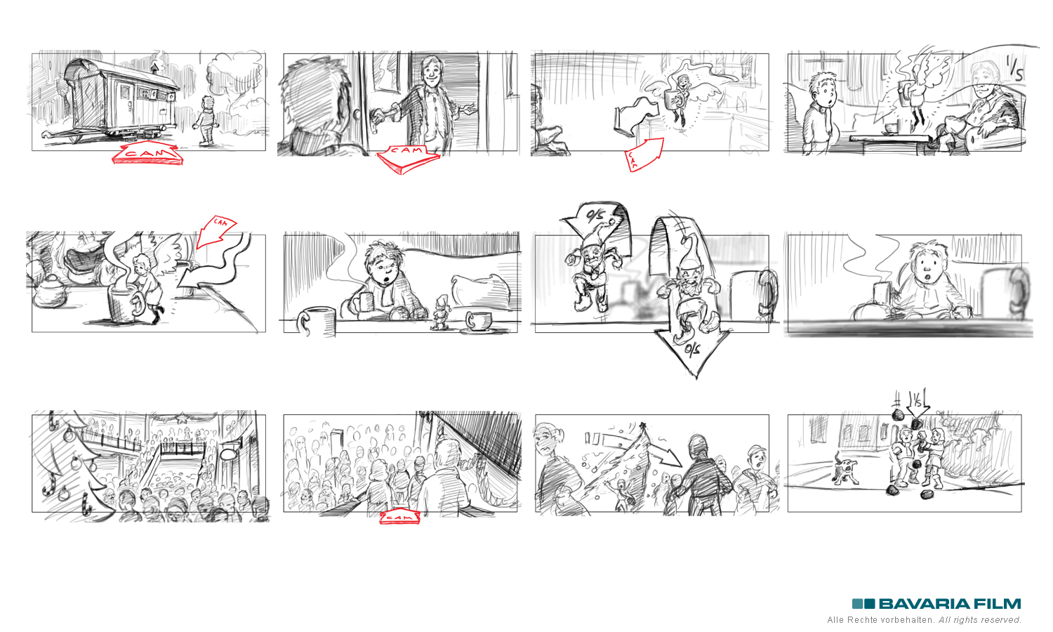 live action storyboard Kinofilm