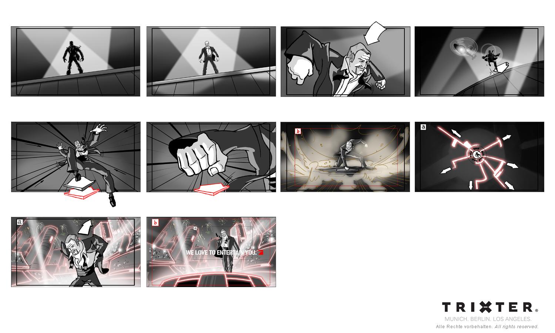 Storyboard München Trixter ProSieben Opener - Stefan Raab