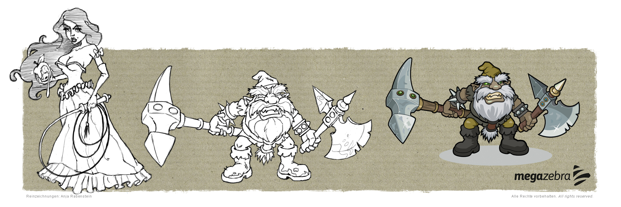 Character Development of Fairy Tale figures for a social browser game
