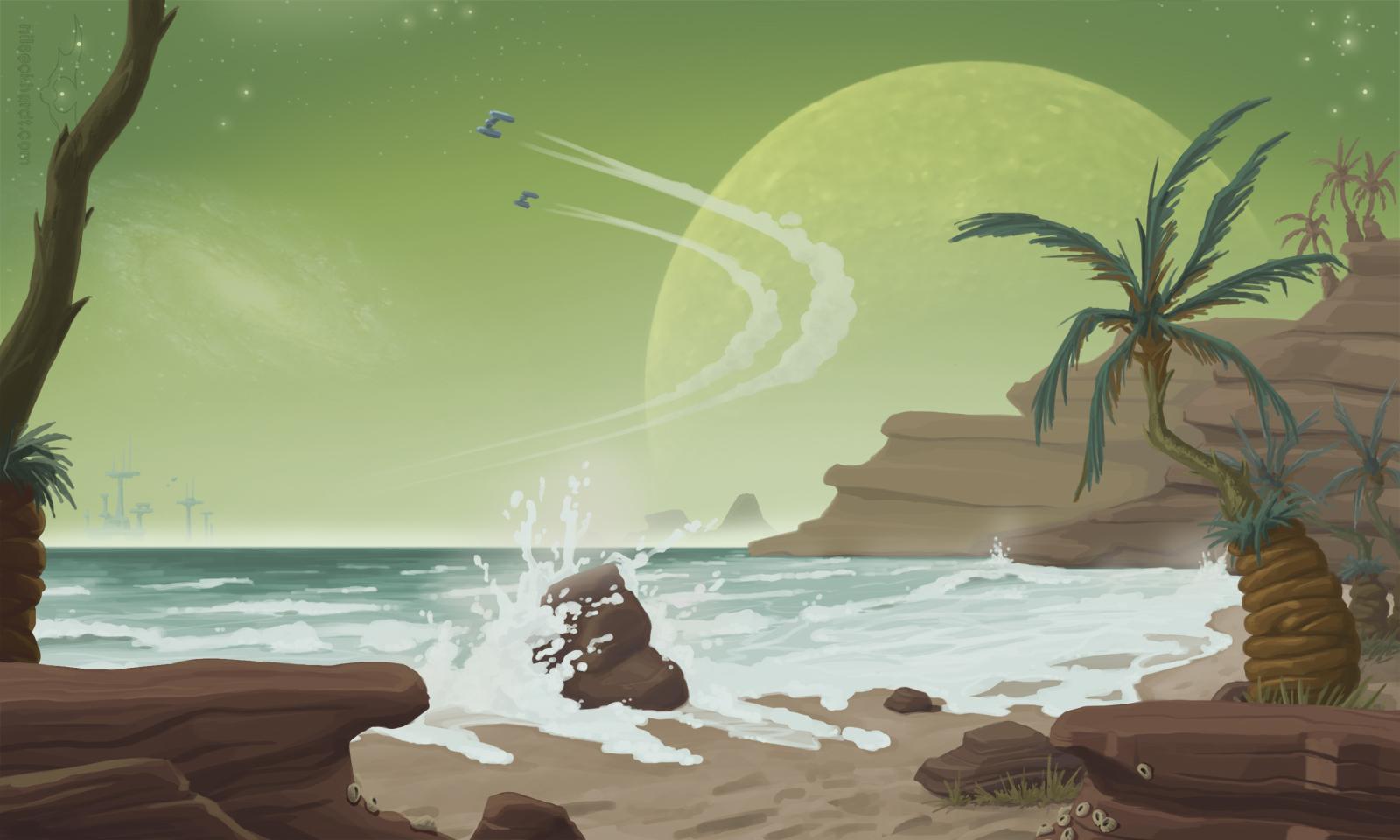 Concept Art for sci-fi environment