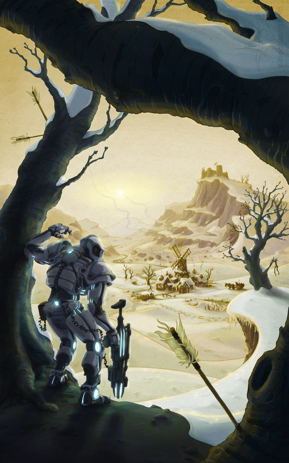 Cover Illustration for a sci-fi fantasy crossover novel