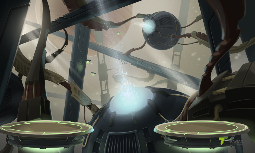 """Concept Art of backgrounds for """"Roger and Out"""""""