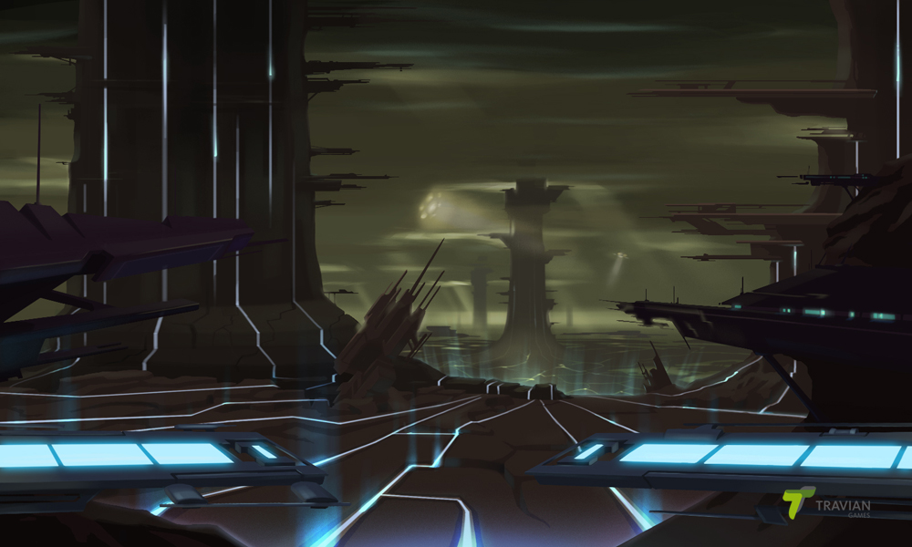 "Concept Art of backgrounds for ""Roger and Out"""