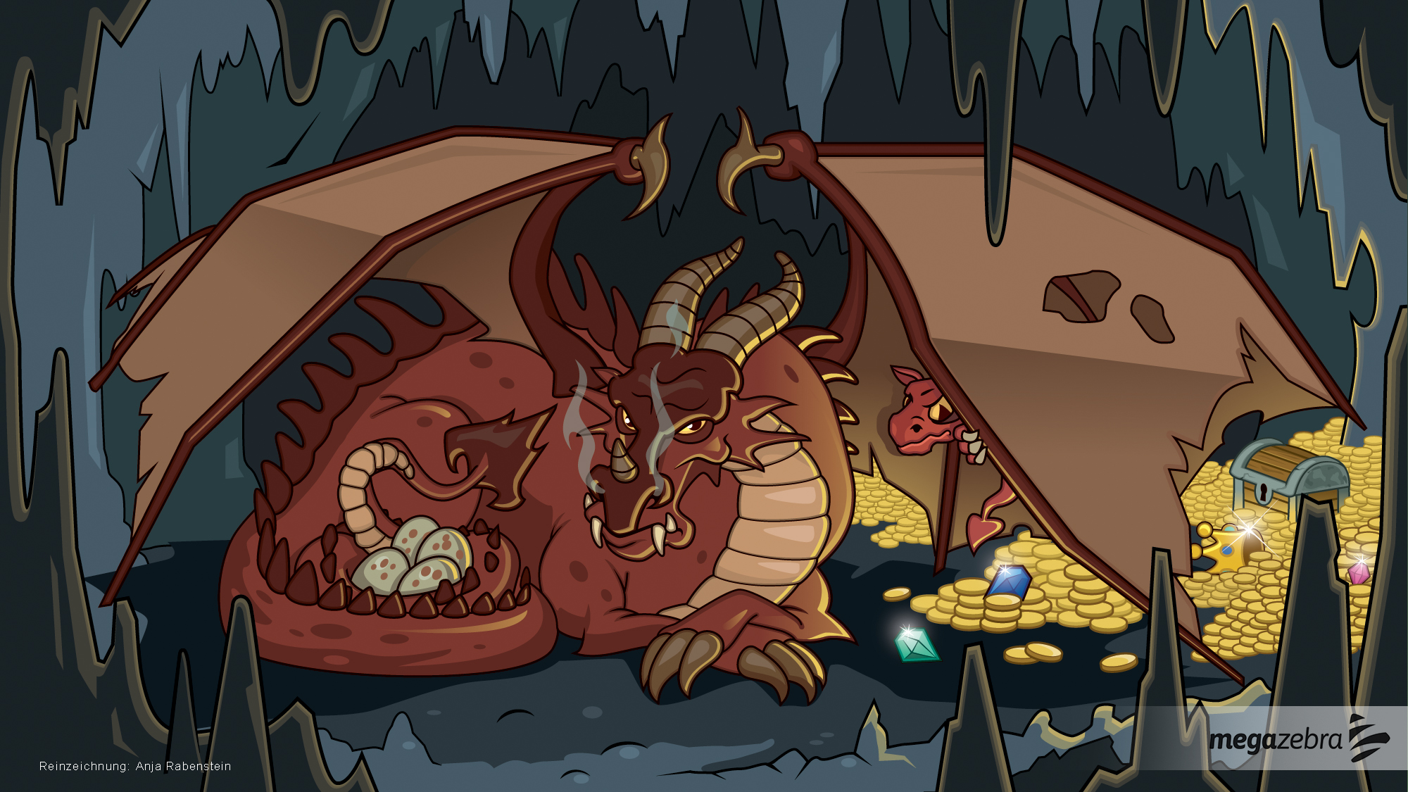 Artwork for a Dragon story screen