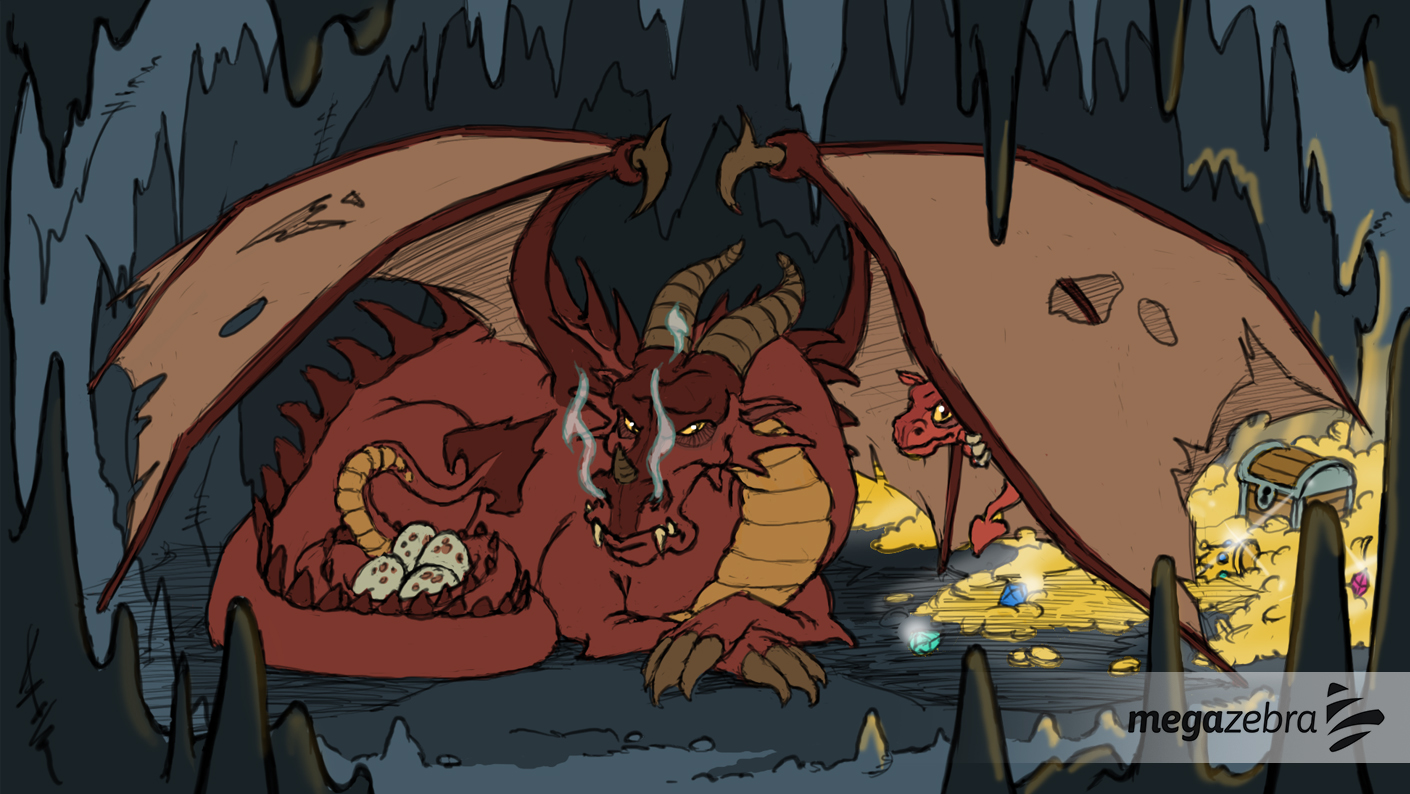 Concept Art for a Dragon story screen