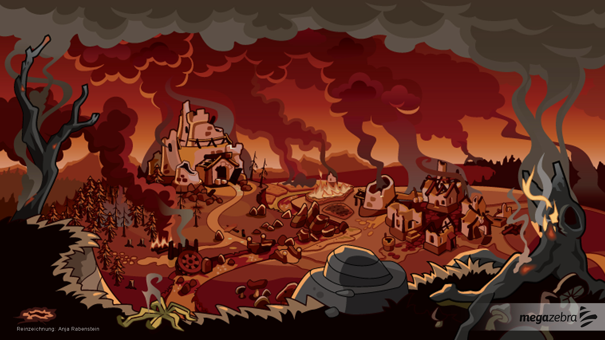 Artwork for a social browser game