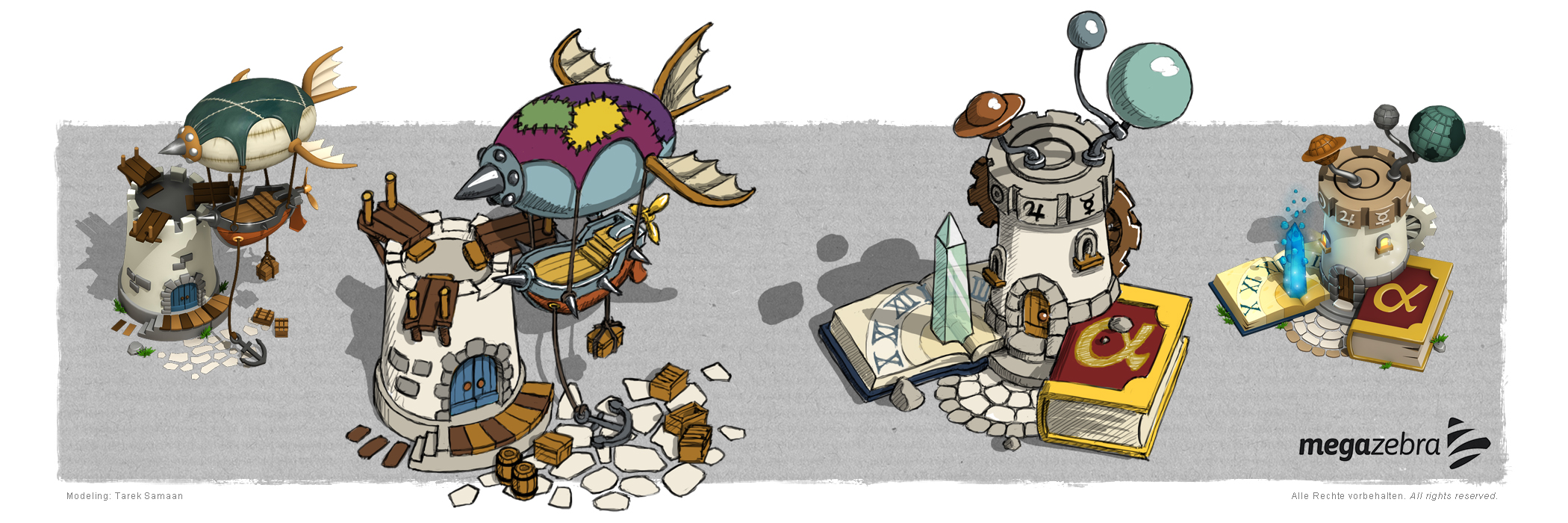 Concept Art for a social browser game