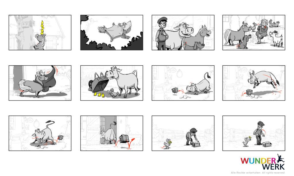 Animationboards Lieselotte - TV-Serie